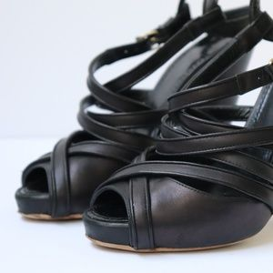 Givenchy Womens Size 36.5 Black Ankle Strap Heels
